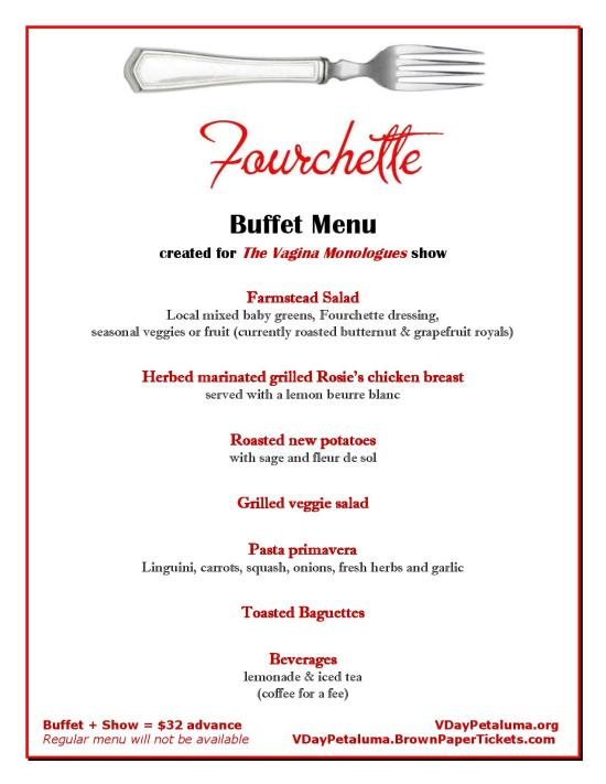 Buffet Menu.Fourchette
